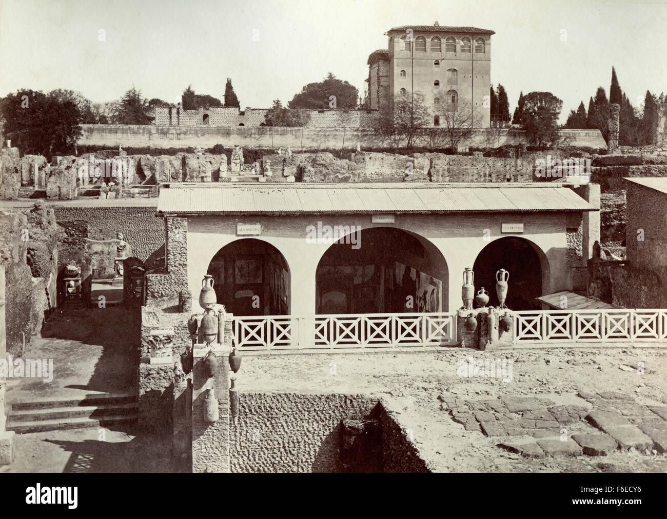 Palacio de los césares, casa paterna de Tiberio, Roma, Italia Imagen De Stock