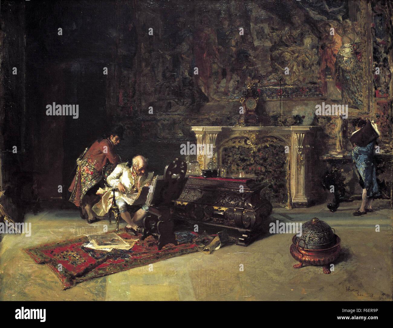Marià Fortuny - El coleccionista de impresión Imagen De Stock