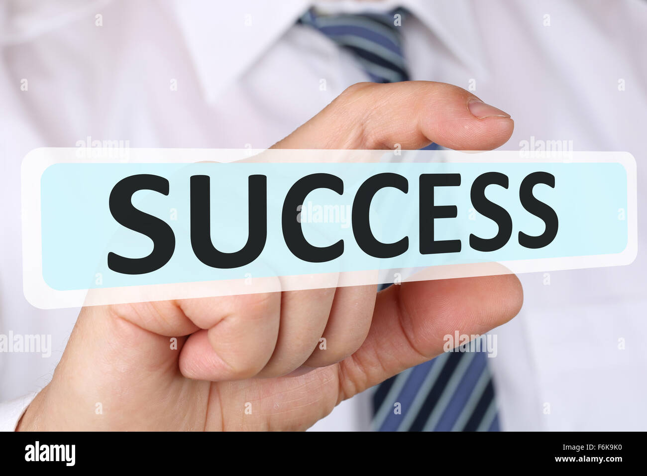 Empresario de éxito con el concepto de negocio de crecimiento liderazgo finanzas Foto de stock