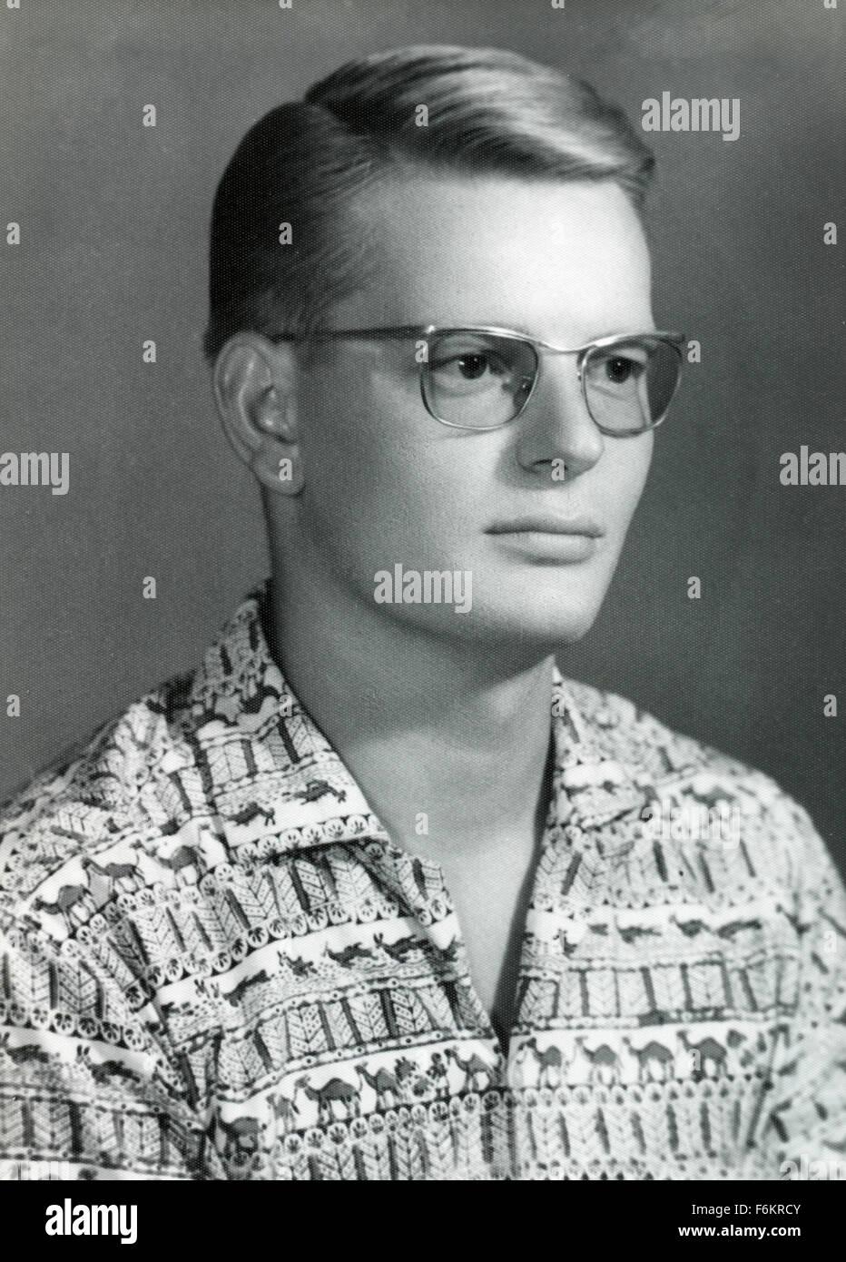 Retrato de un joven de los 60s, Dinamarca Imagen De Stock