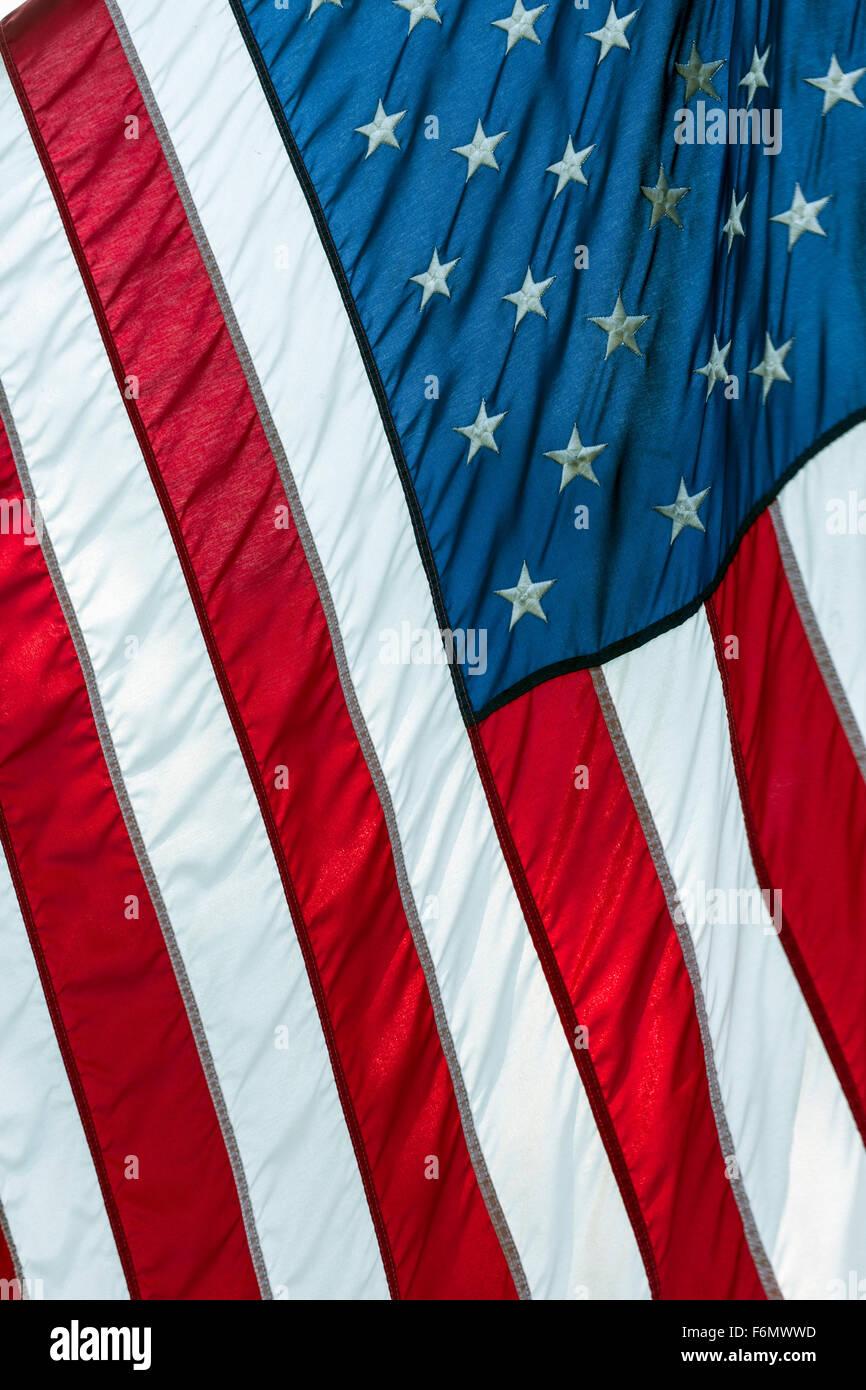 Bandera americana Imagen De Stock