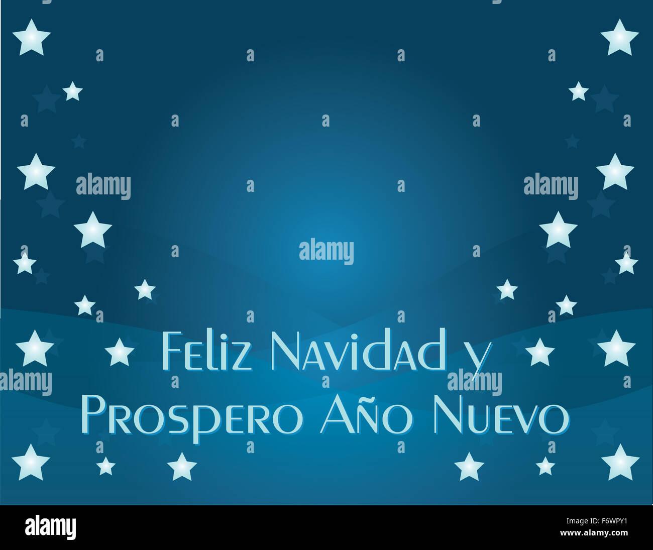 Feliz Navidad y Prospero Ano Nuevo Imagen De Stock