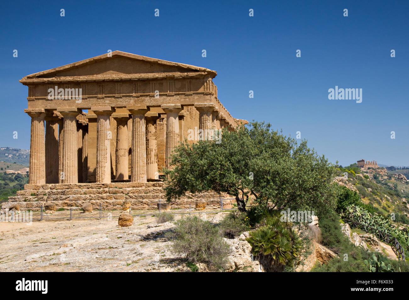 Valle de los templos, Agrigento, Sicilia, Italia Imagen De Stock