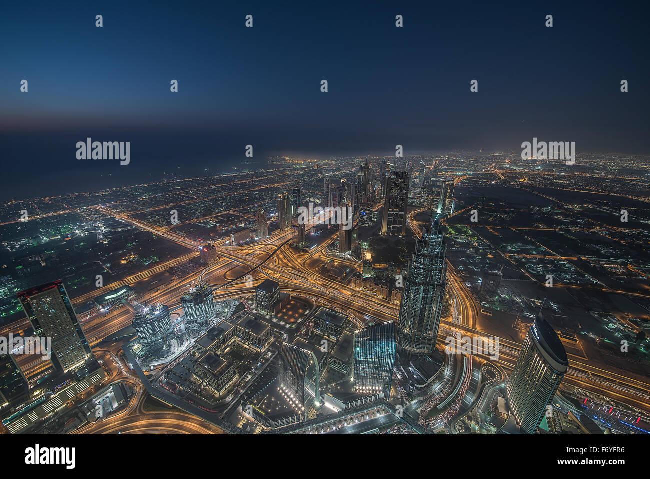 Visto desde el Burj Dubai Foto de stock