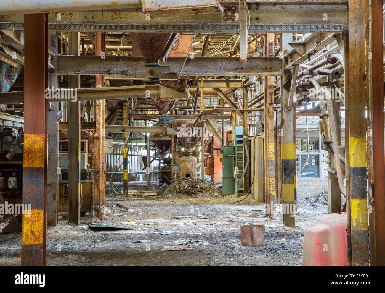 Edificio abandonado- Fabricación de cerveza Imagen De Stock