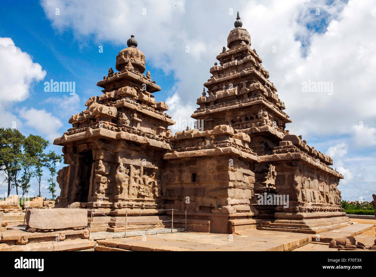 Mahabalipuram templo, Tamilnadu, India, Asia Foto de stock
