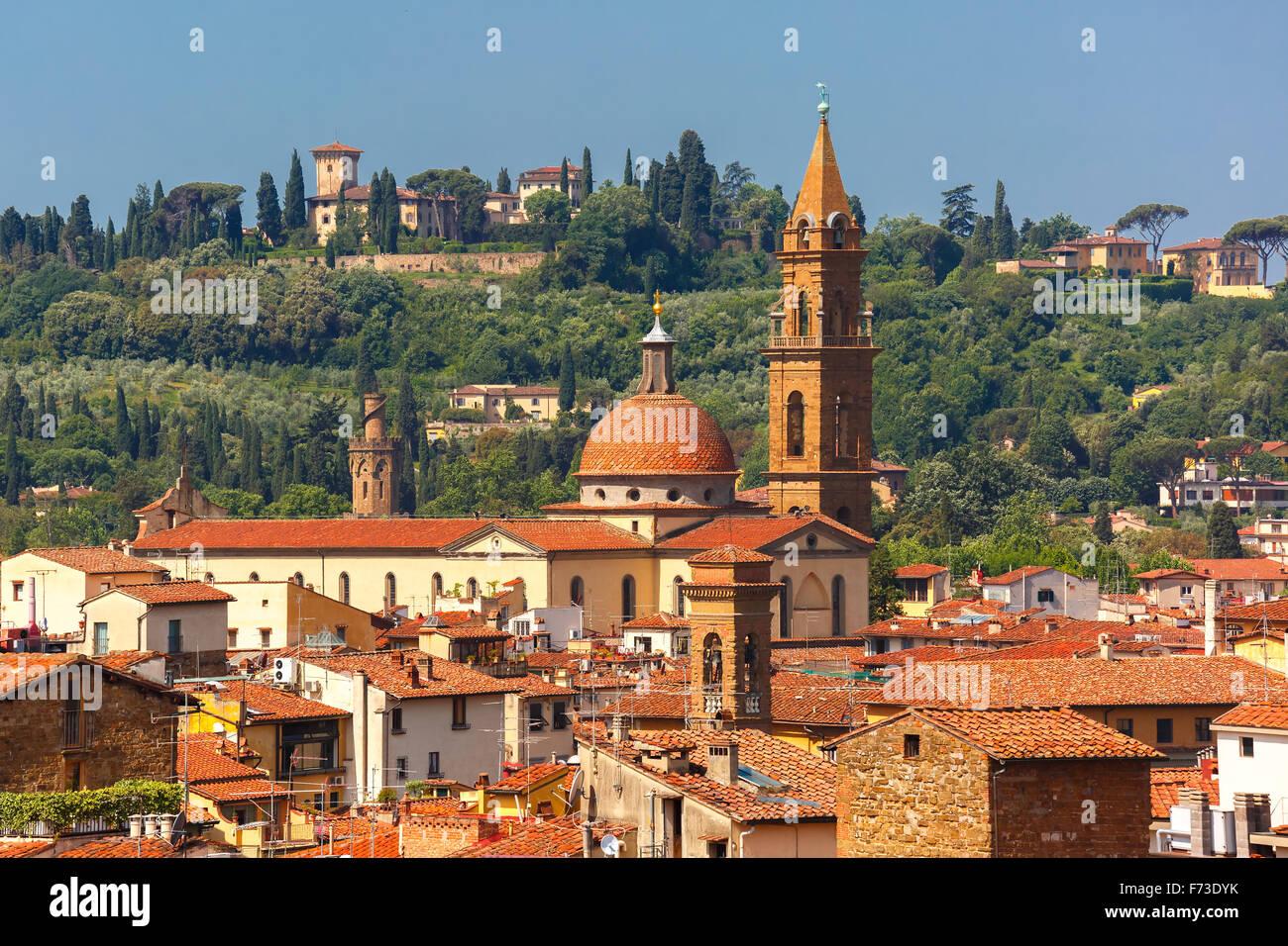 Oltrarno y Santo Spirito en Florencia, Italia. Foto de stock