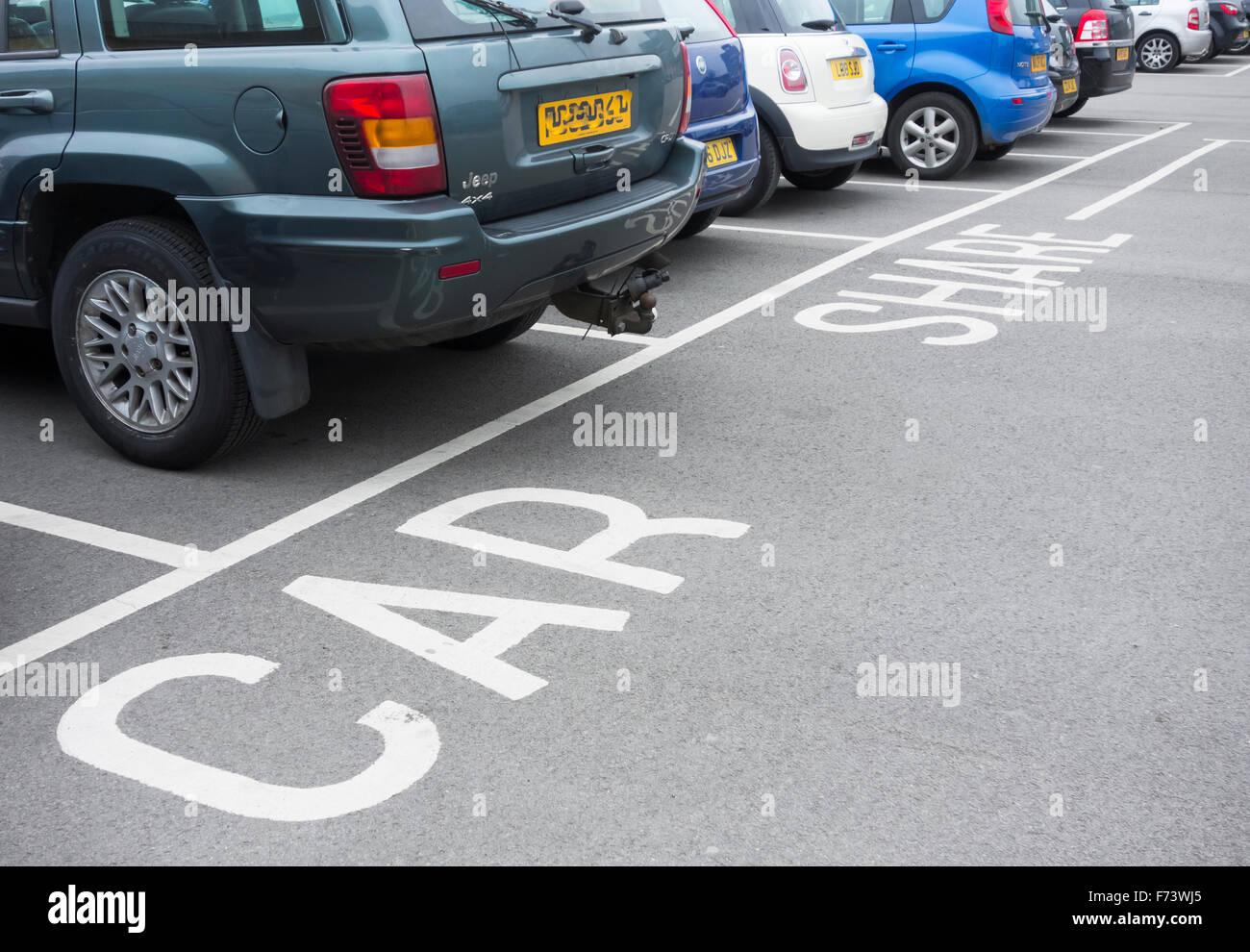 Compartir coche aparcamiento en Lingfield punto business park. Darlington, Inglaterra, Reino Unido. Imagen De Stock