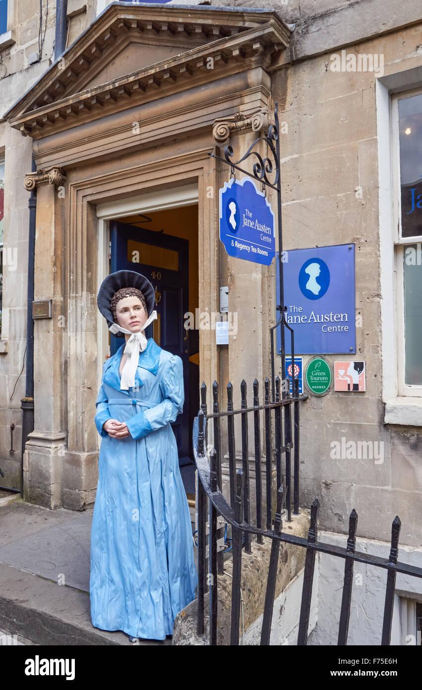 El Centro de Jane Austen a 40 Gay Street en Bath, Somerset, Inglaterra, Reino Unido Imagen De Stock