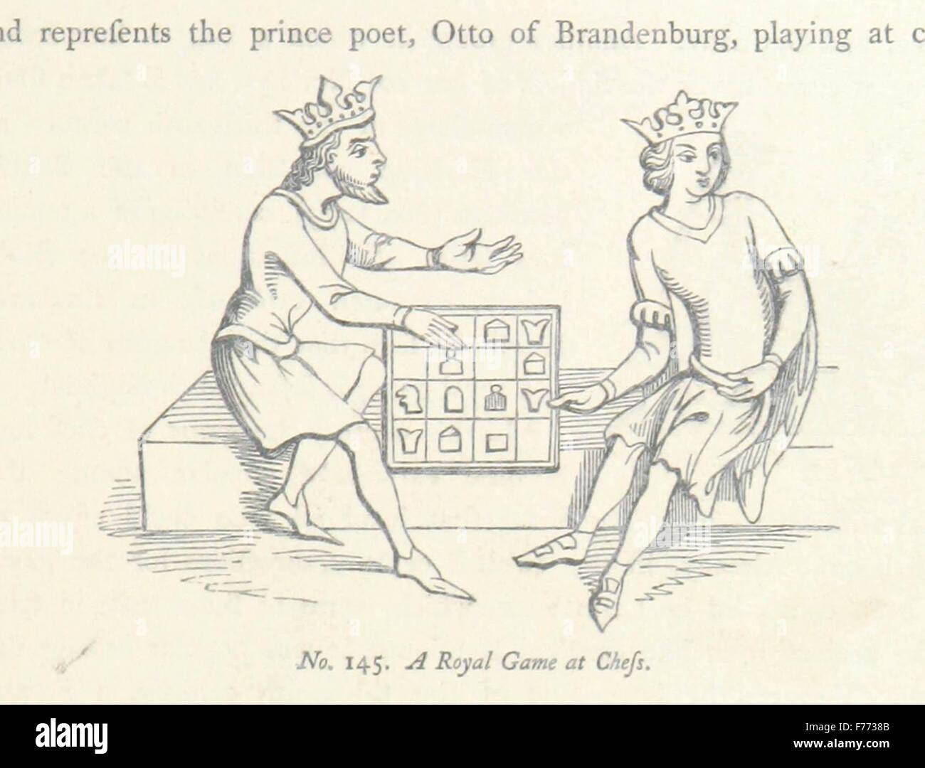 """""""Una historia de modales y sentimientos internos en Inglaterra durante la Edad Media ... Con ilustraciones Imagen De Stock"""
