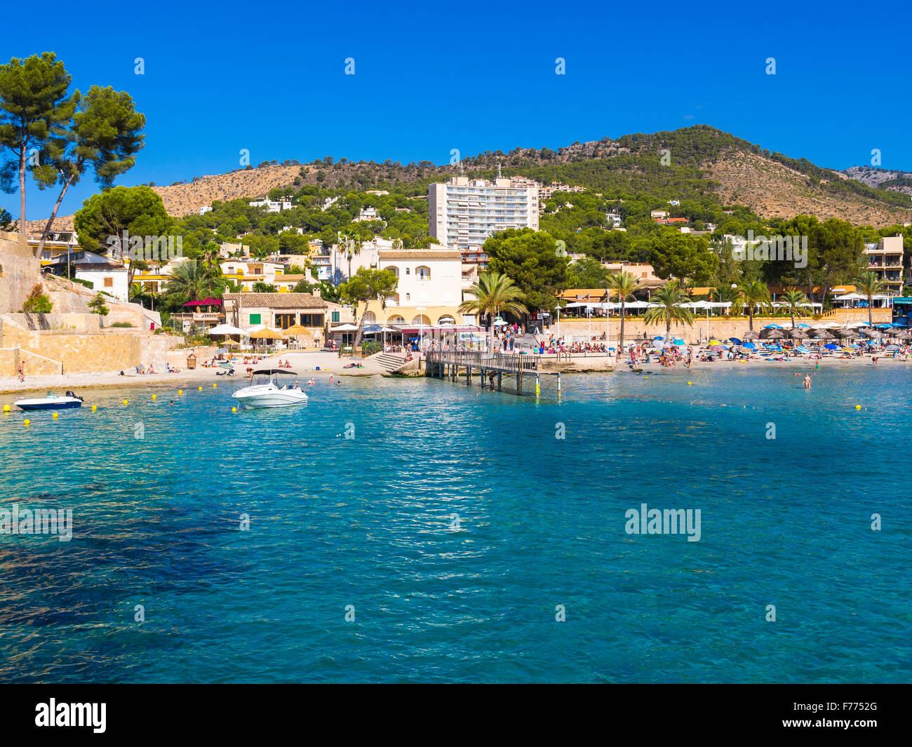 Bahía de Paguera, Mallorca, Islas Baleares, España Imagen De Stock