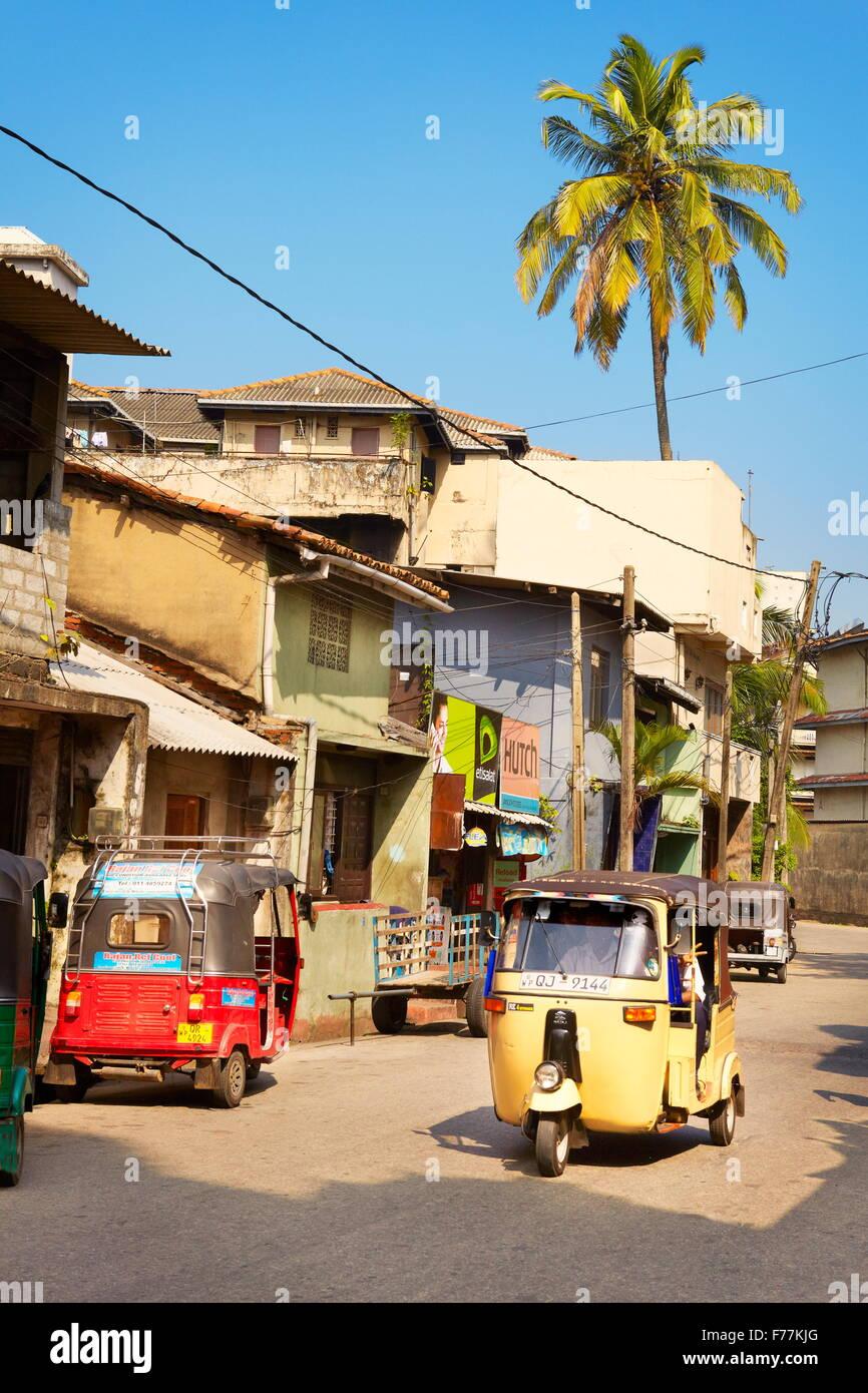 Sri Lanka - Colombo, tuk-tuk taxi, una manera típica de transporte Imagen De Stock