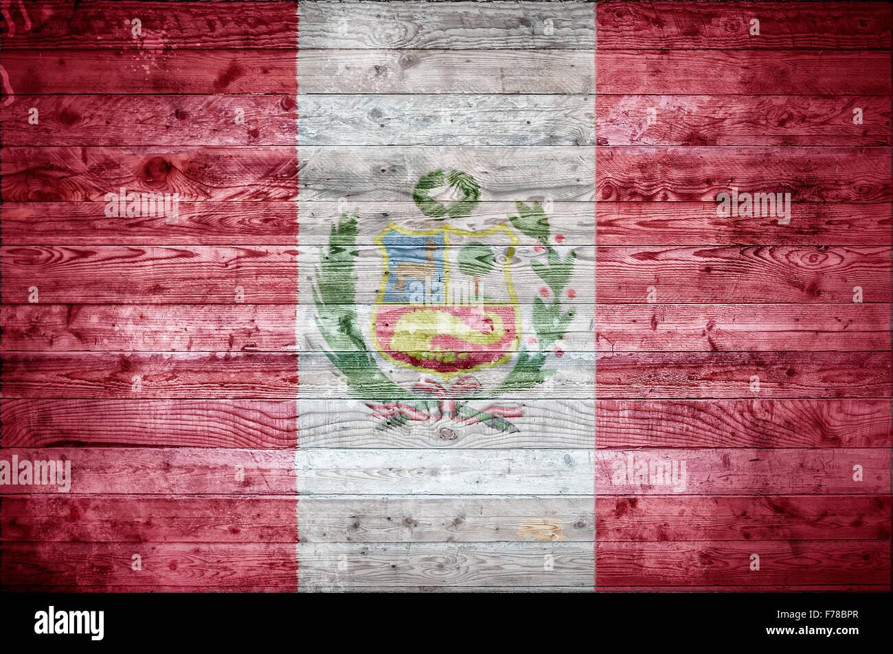 Un Vignetted Imagen De Fondo De La Bandera Del Peru En Tablas De Madera De Una Pared O En El Suelo Fotografia De Stock Alamy
