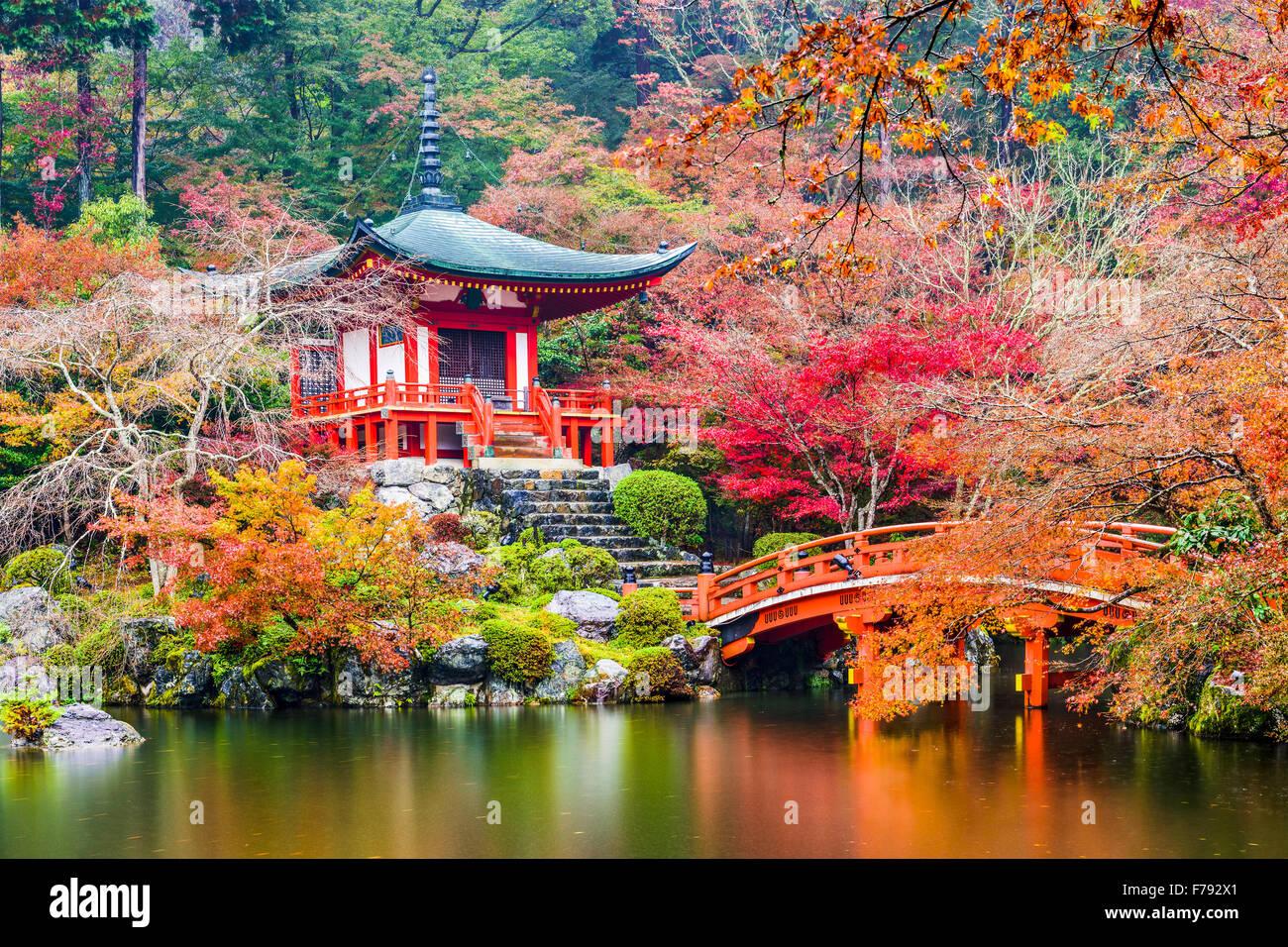 Kyoto, Japón en el templo Daigoji. Imagen De Stock