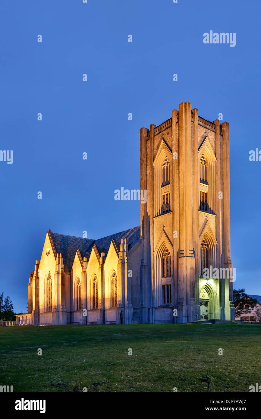 La Catedral católica de Cristo Rey, Reykjavik, Iceland Imagen De Stock