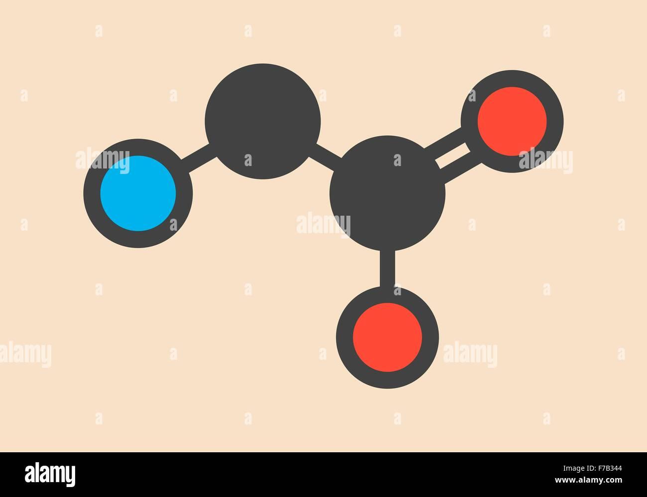 Glicina Gly G Aminoácidos Molécula Estilizada Fórmula