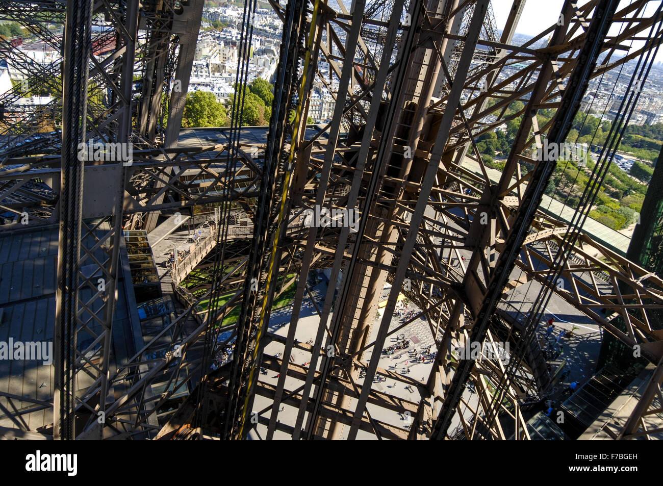 La Tour Eiffel, Paris, Francia Foto de stock