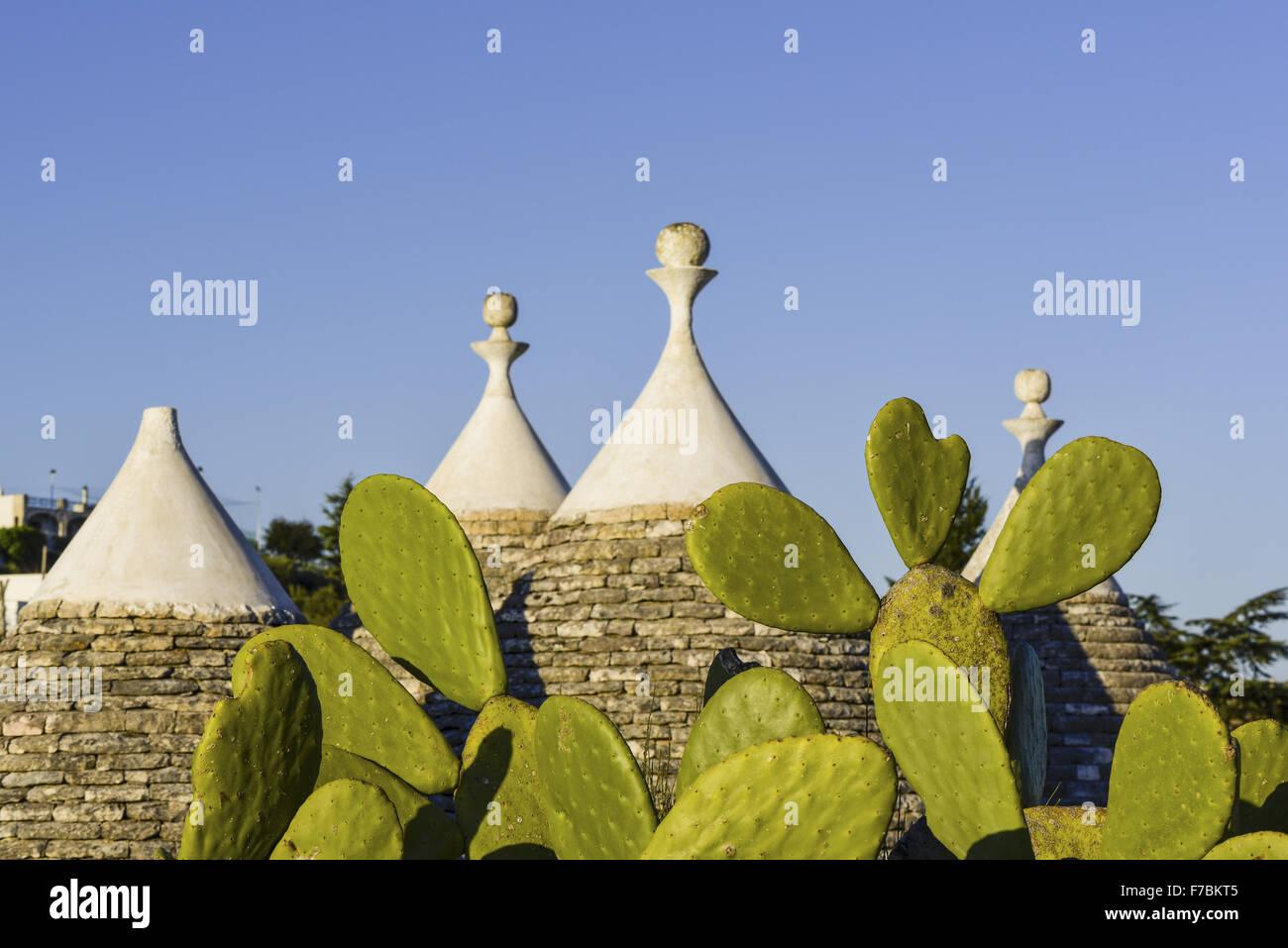 Trullo, Trulli, Locorotondo, Puglia, Italia Imagen De Stock