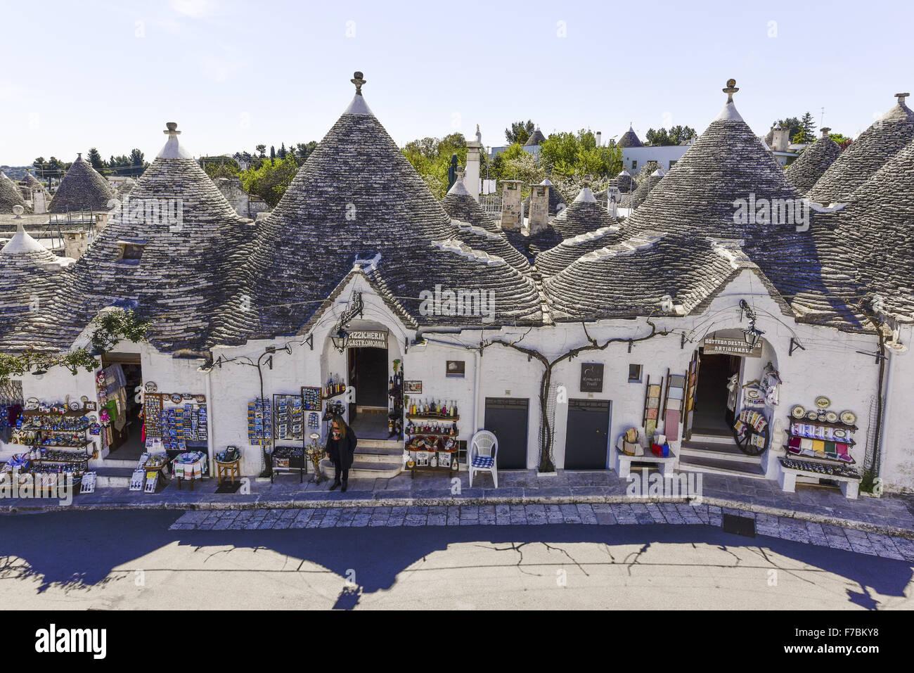 Trullo, Trulli, Alberobello, Puglia, Italia, Sitio del Patrimonio Mundial de la UNESCO Imagen De Stock