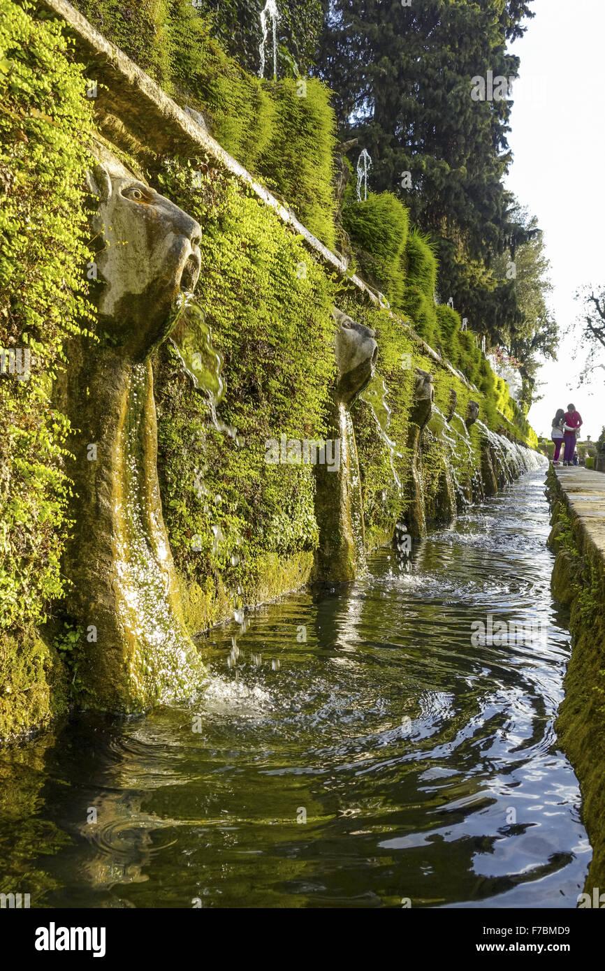 Órgano de agua, Villa d Este, Tivoli, Lacio, Italia, Sitio del Patrimonio Mundial de la UNESCO Imagen De Stock