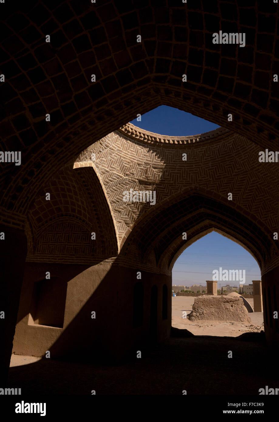 Antiguo Edificio zoroástrica, provincia de Yazd, en Yazd, Irán Imagen De Stock