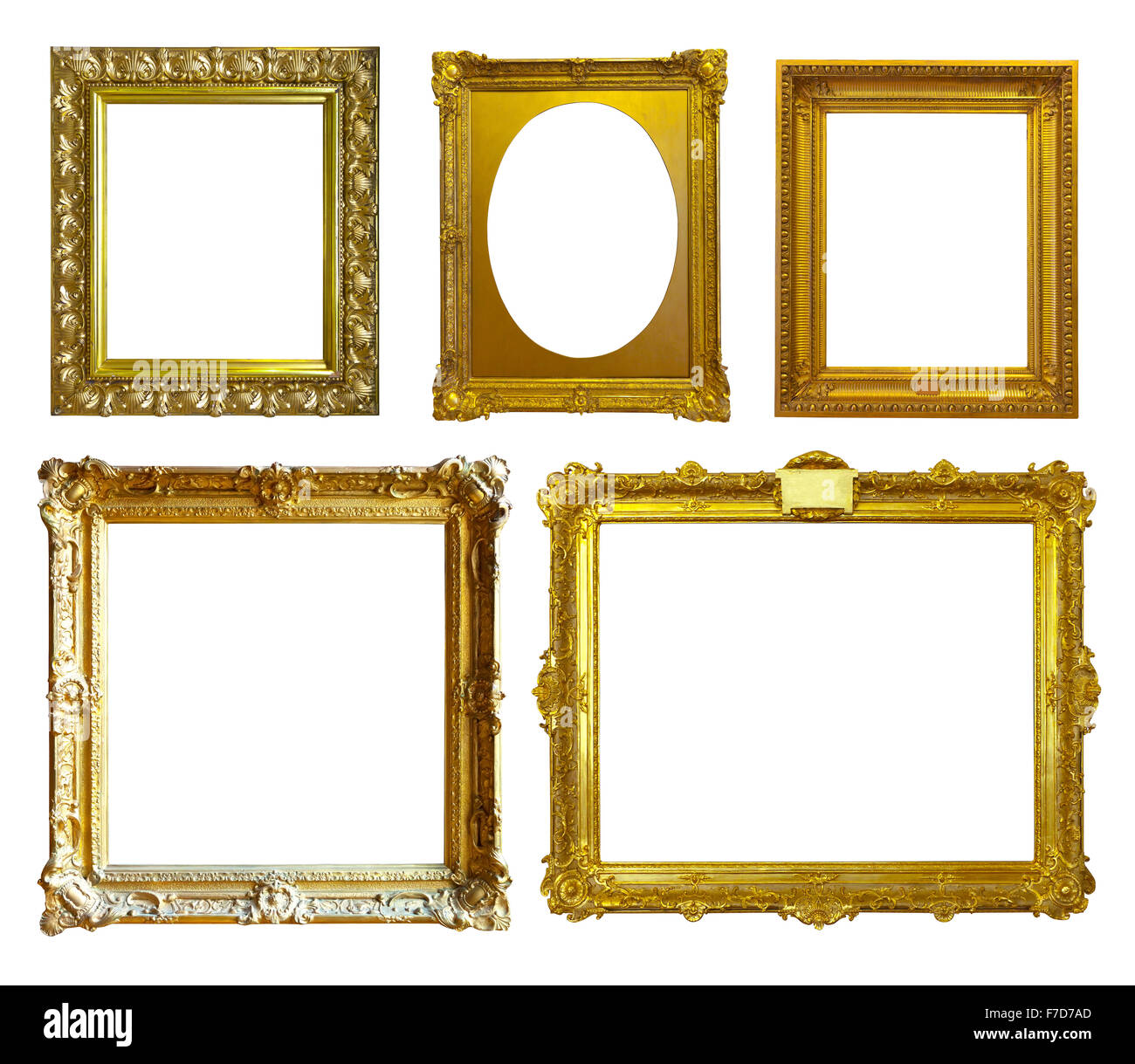 Conjunto de unos marcos de imagen. Aislado sobre fondo blanco Foto ...
