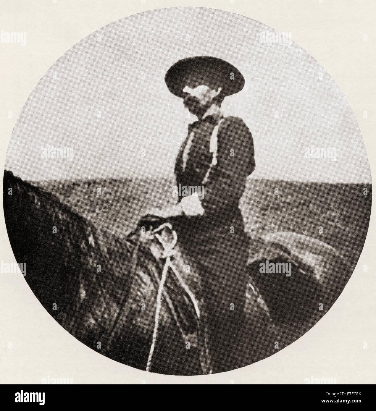 Roger Pocock, 1865 - 1941. Inglés viajero, aventurero, soldado, pirata, misionera, frontiersman, y cowboy. Fundador Foto de stock