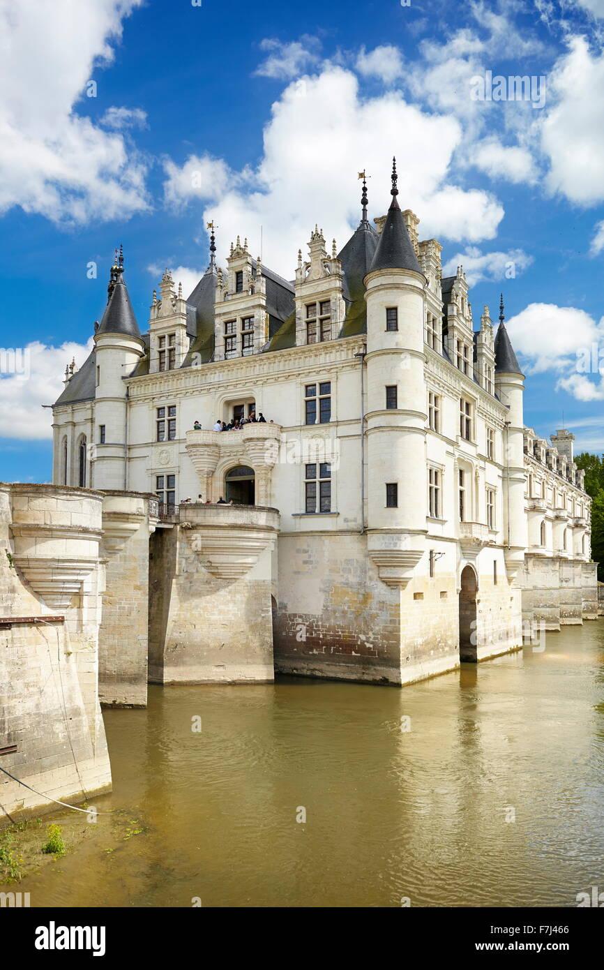 Castillo de Loira - Castillo de Chenonceau, Chenonceaux, Valle del Loira, Francia Imagen De Stock