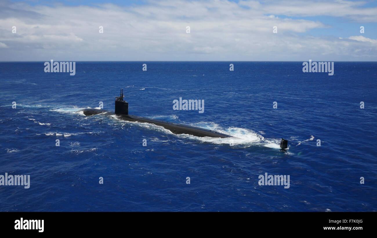 Submarino Nuclear, Oahu, Hawaii Imagen De Stock