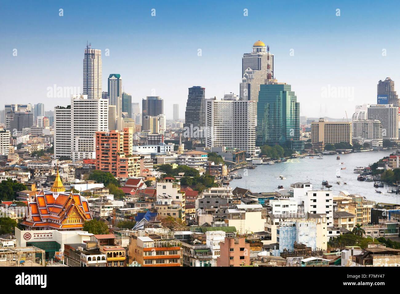 Vistas del horizonte de la ciudad de Bangkok desde el Grand China Princess Hotel Bangkok, Tailandia Imagen De Stock