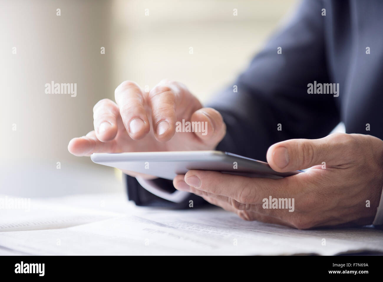 Mediante tableta digital Imagen De Stock
