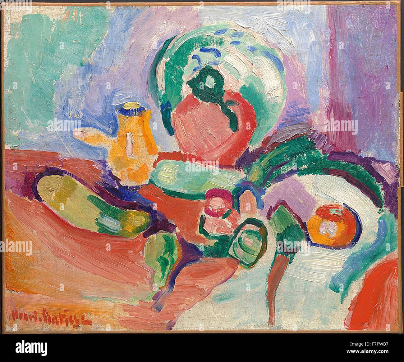 Henri Matisse - Bodegón con verduras Imagen De Stock
