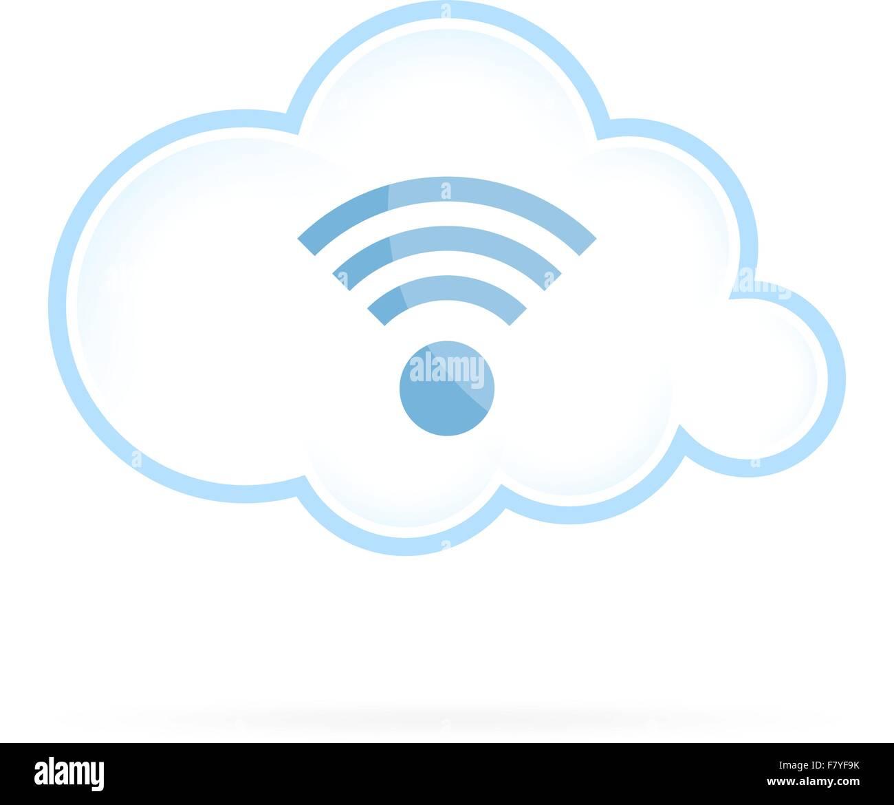 Icono de Cloud Computing Wifi Imagen De Stock