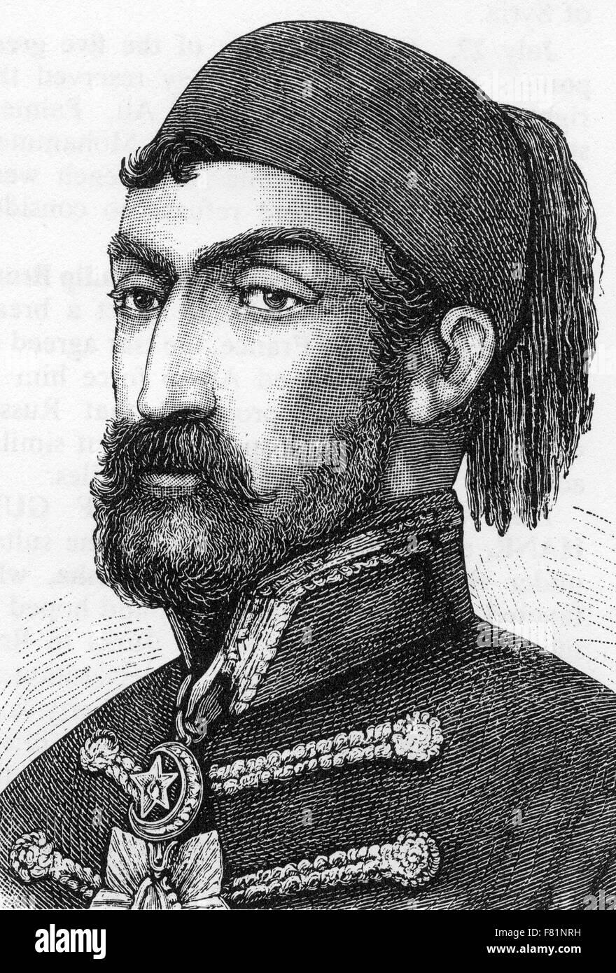 OMAR PASHA LATAS (1806-1871) y gobernador general otomano Foto de stock