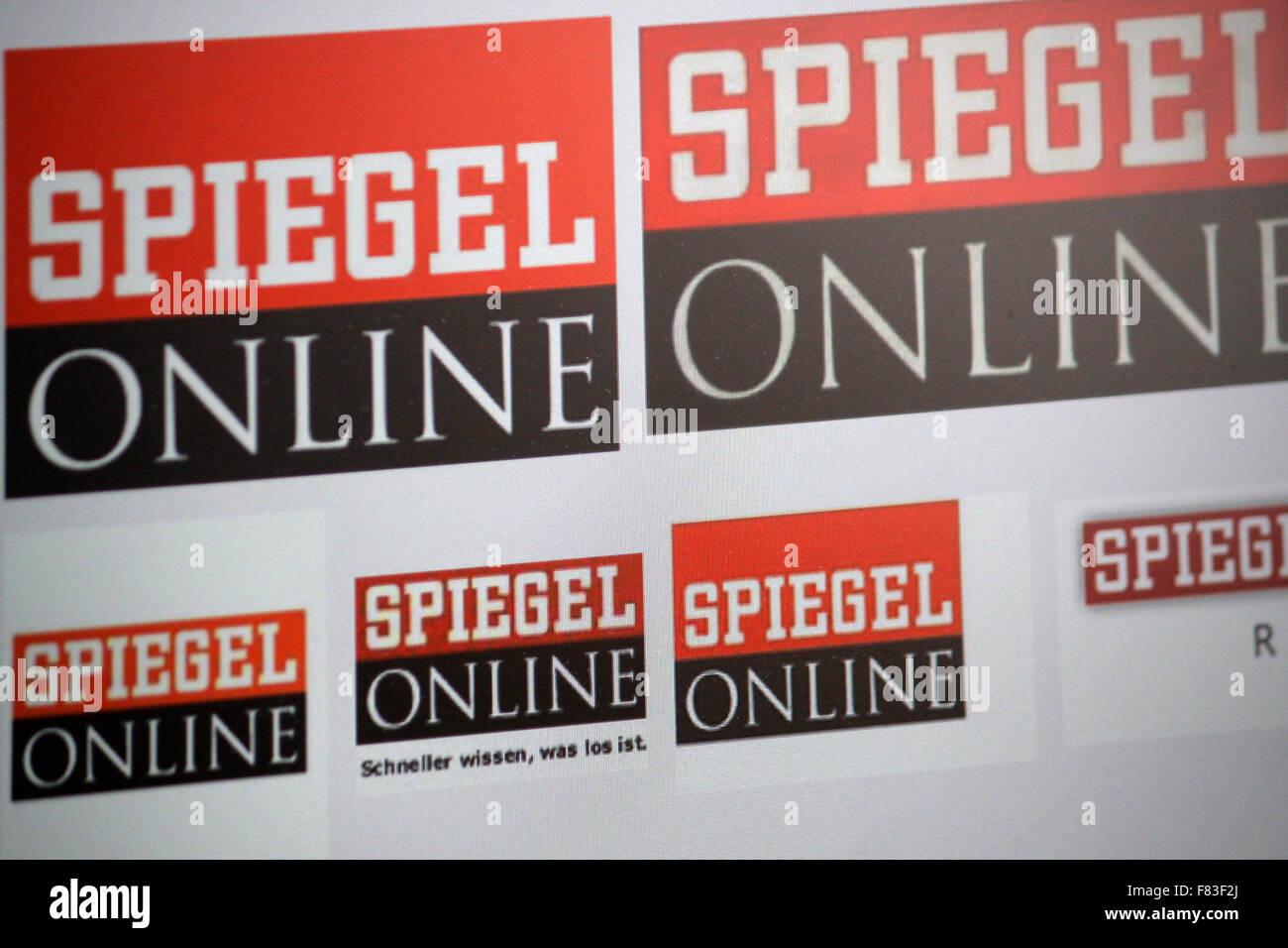 Markenname: 'Spiegel online' , de Berlín. Foto de stock