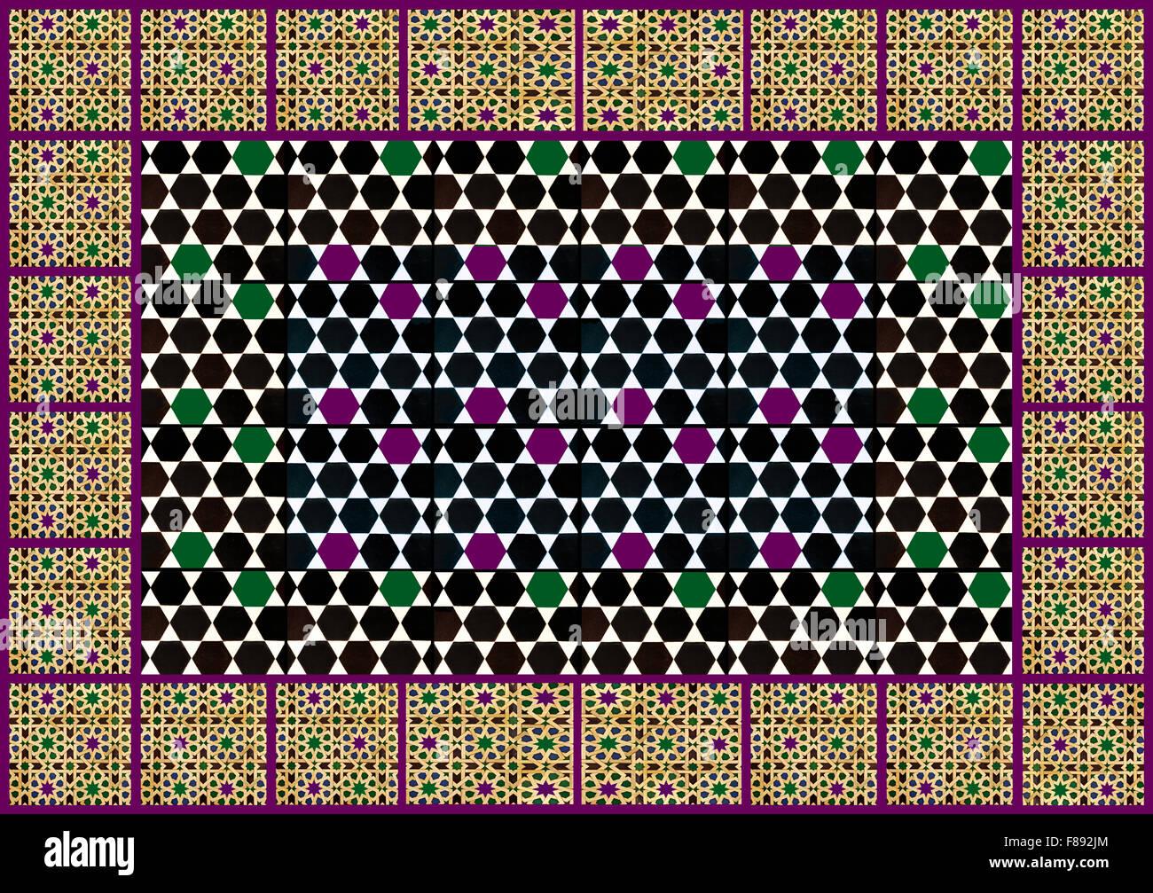 Patrón de patrones geométricos moriscos Imagen De Stock