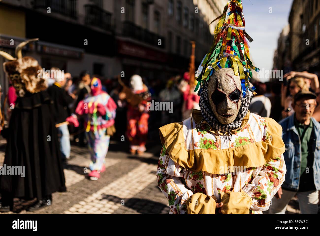 Festival Internacional de máscara Ibérica, Lisboa, Portugal Imagen De Stock