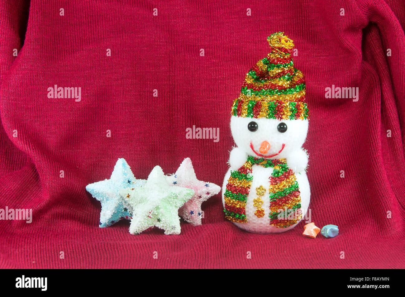 Muñeco de nieve en X-mas Imagen De Stock