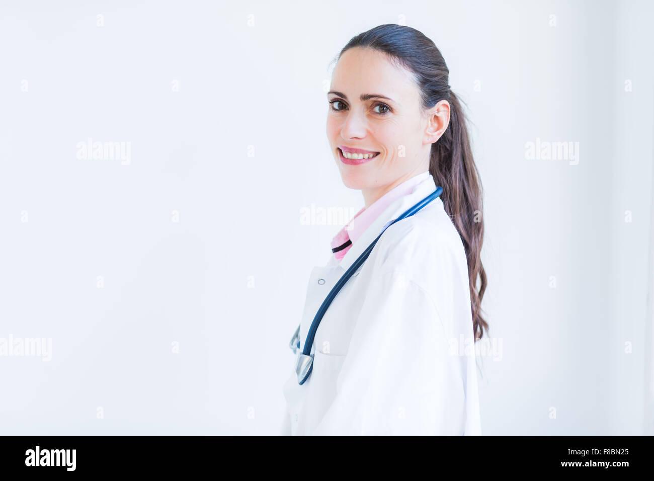 Retrato de un médico. Imagen De Stock