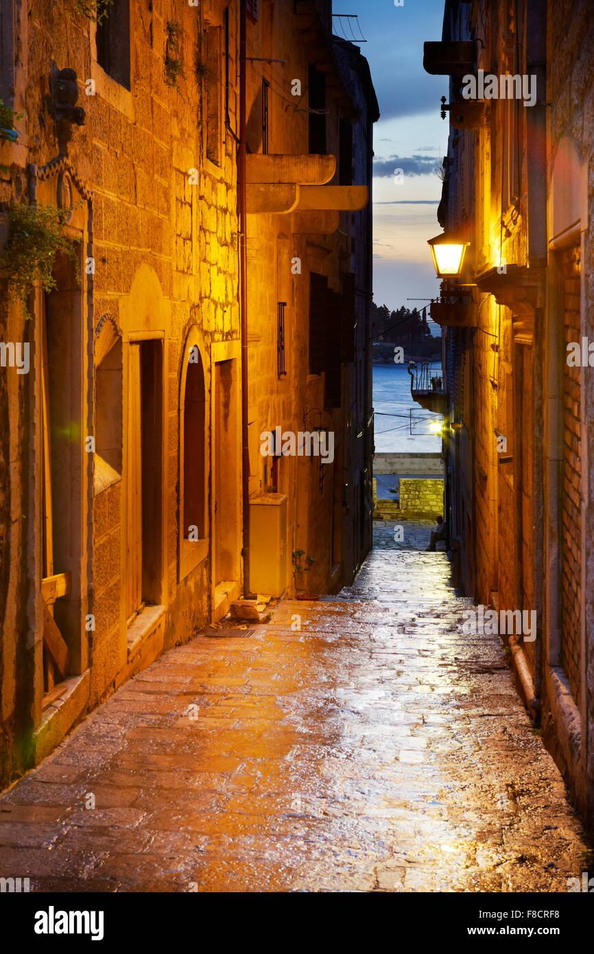 La isla de Korcula, Dalmacia, Croacia, Europa Foto de stock