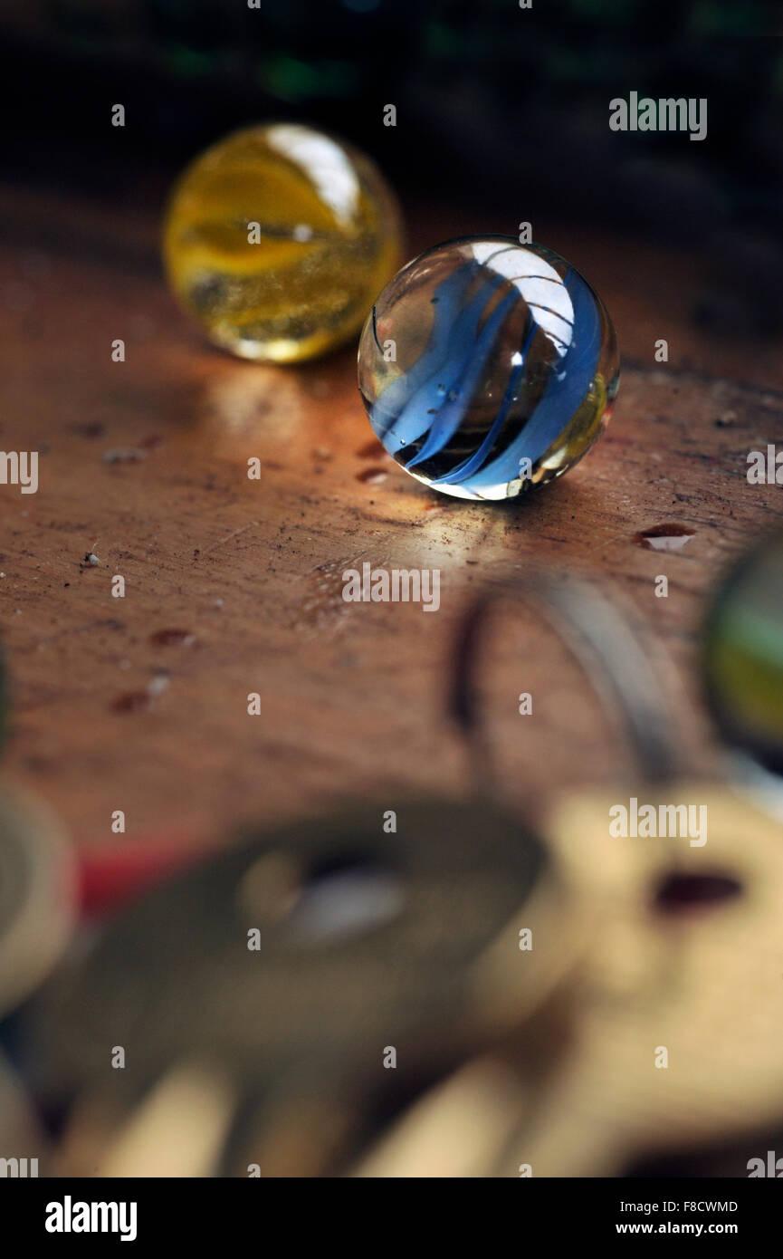 canicas de vidrio Imagen De Stock