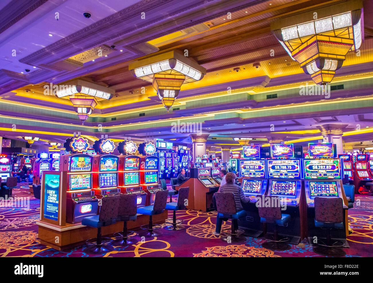 El interior del Mandalay Bay Resort en Las Vegas Foto de stock