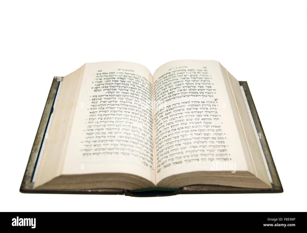 Biblia Abierta Con El Texto Hebreo Original Foto Imagen De Stock