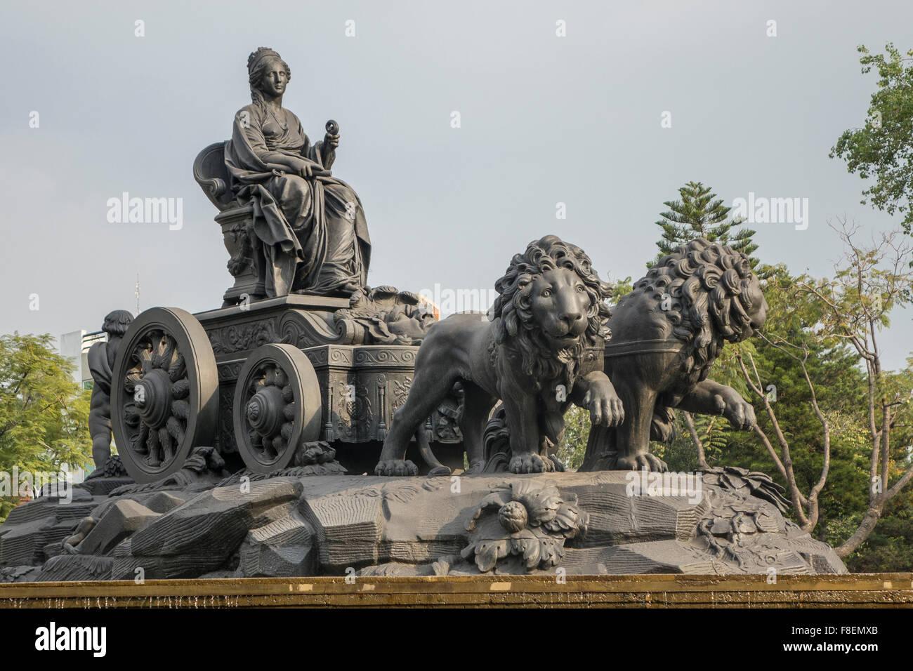 México. Ciudad de México. Fuente de Cibeles Imagen De Stock