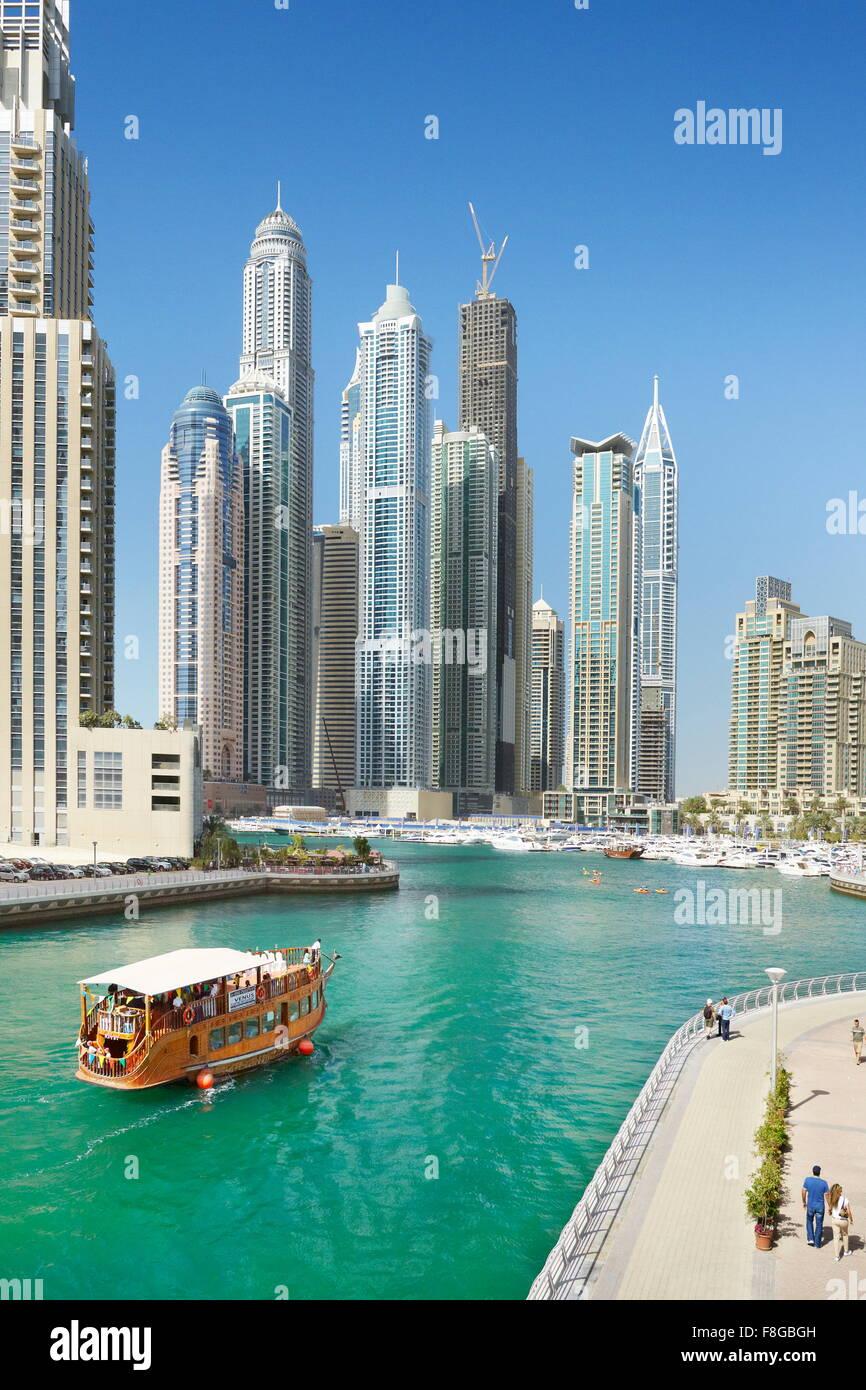 - Marina de Dubai, Emiratos Árabes Unidos Imagen De Stock