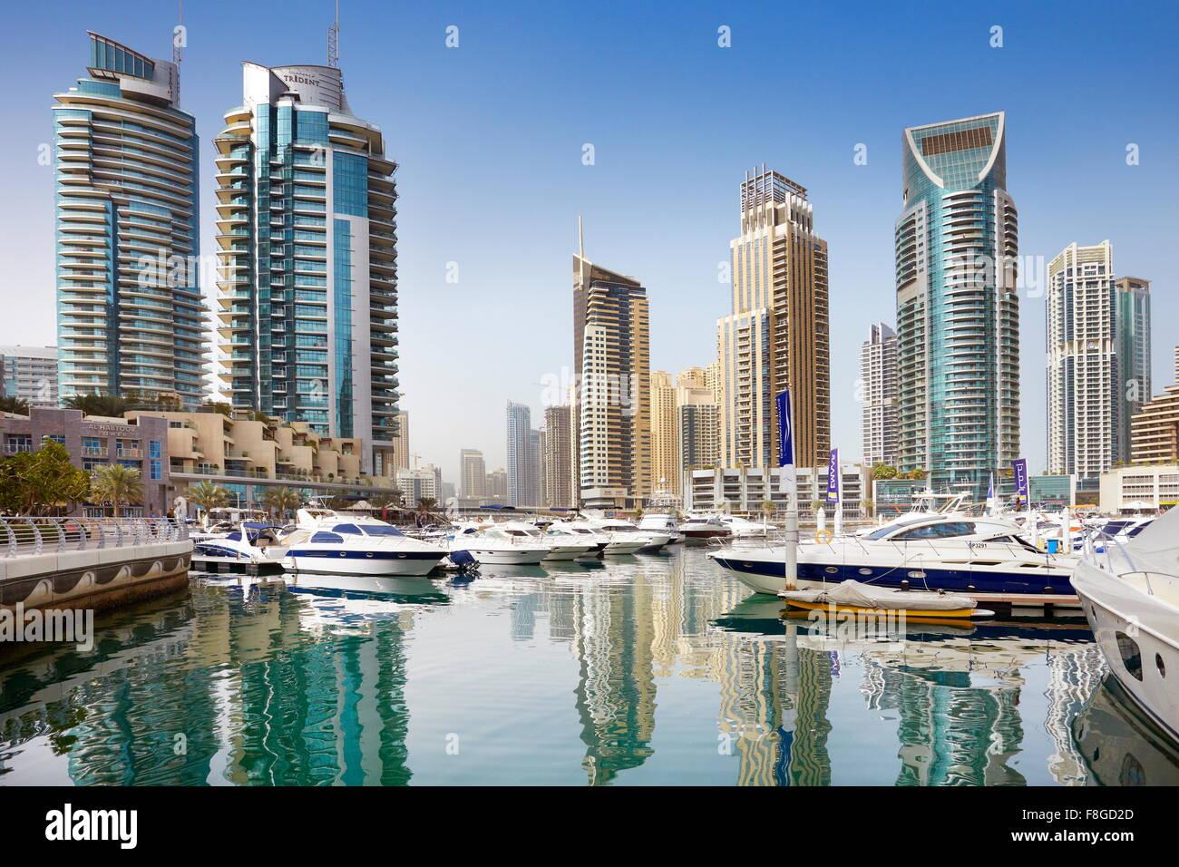 - Marina de la ciudad de Dubai, Emiratos Árabes Unidos Imagen De Stock
