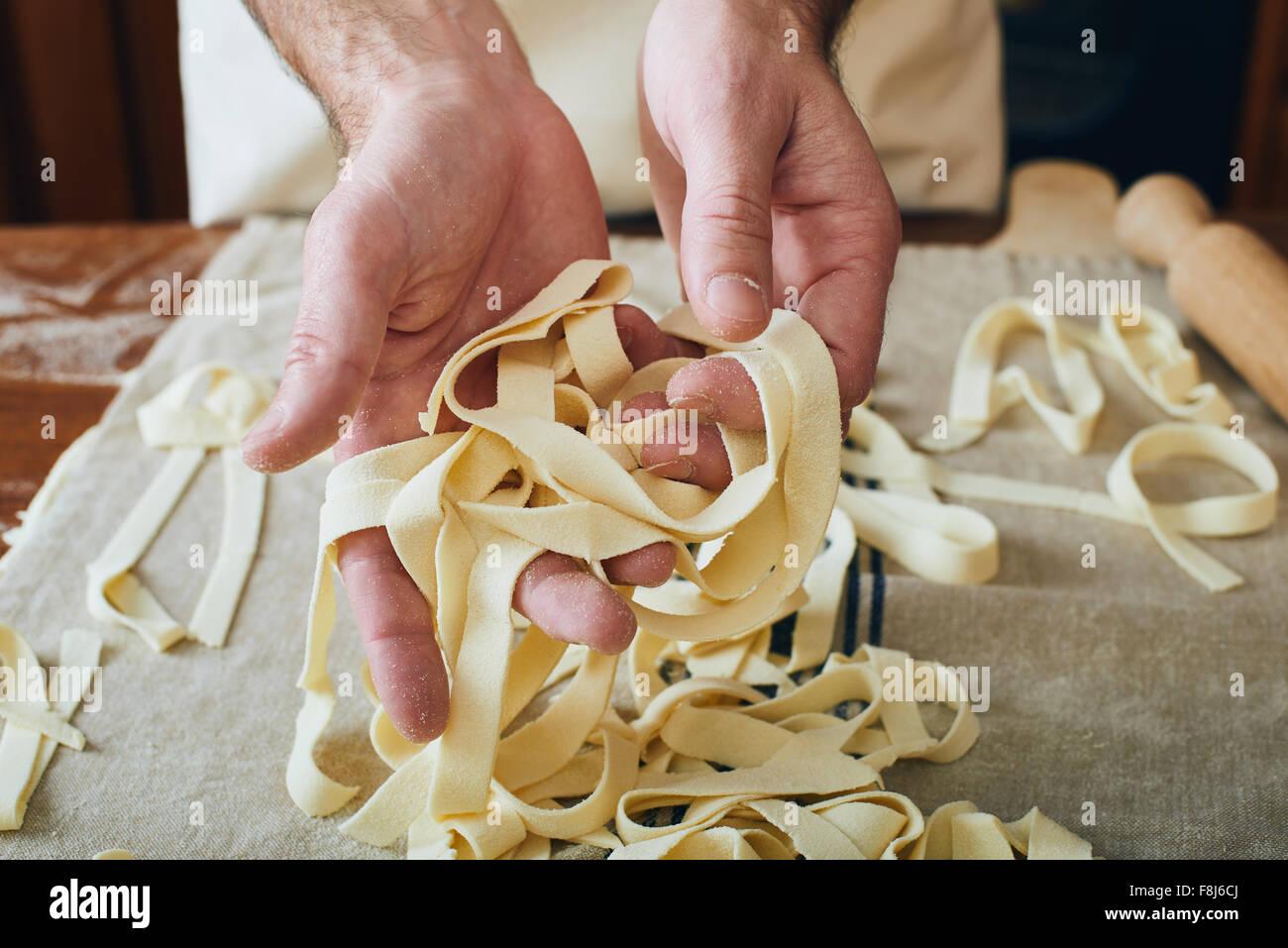 Fabricación de pasta Imagen De Stock