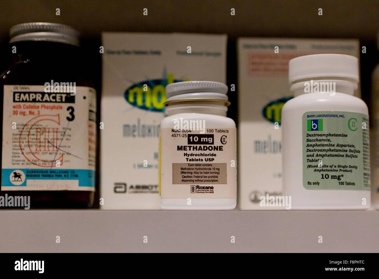 La metadona (Dolophine) sintético opioides recetados - EE.UU. Imagen De Stock