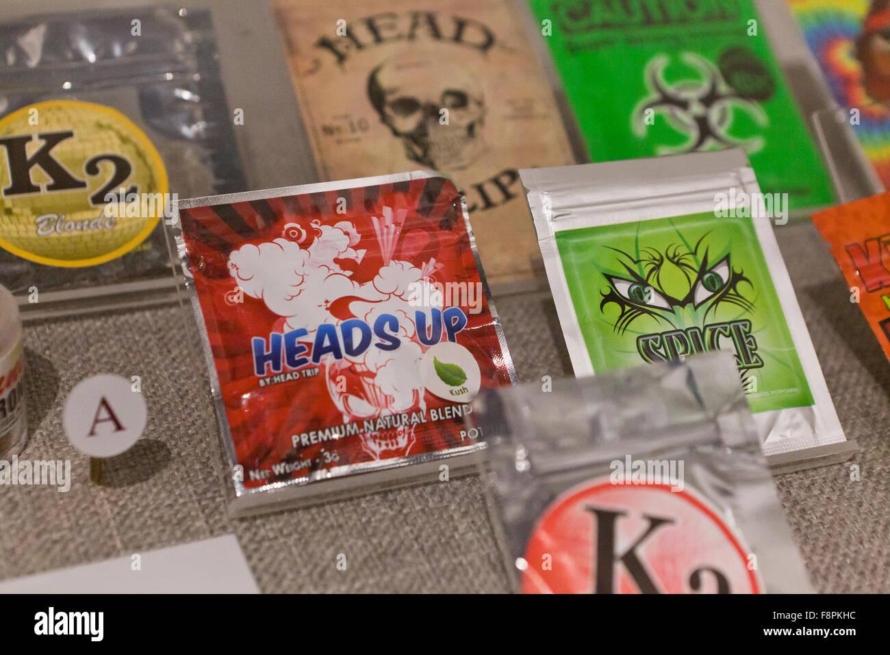 Heads Up popurrí de hierbas incienso (AKA cannabis sintético) - EE.UU. Imagen De Stock