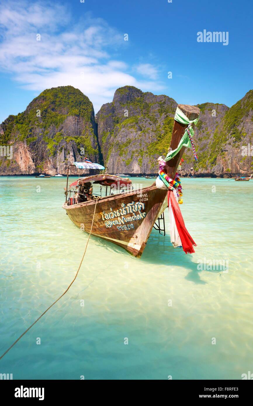 Tailandia - Paisaje de Maya Bay (cerca de la Isla Phi Phi), Asia Imagen De Stock